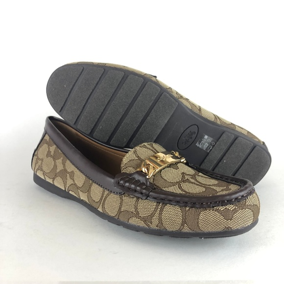 f100a492e20 Coach Shoes - Coach A01918 Olive Slip On Loafers Womens